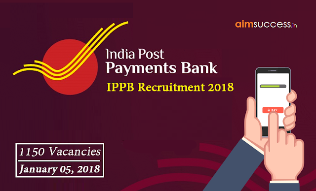 IPPB Recruitment 2018  1150 Vacancies (Apply Now)
