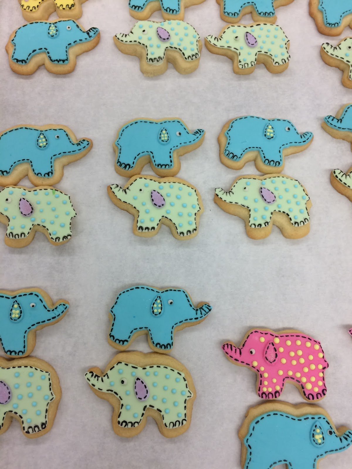 Mrsharveytech Baby Elephant Cookies For Baby Shower