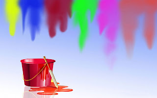 Happy holi painting photo
