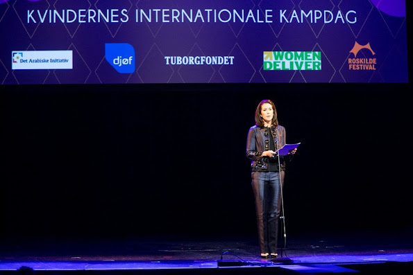 Crown Princess gave a speech during the event in his capacity as patron of the conference Women Deliver. The conference will be held in Copenhagen in May and focuses on global efforts for equality and challenges of girls and women's lack of rights and opportunities worldwide.