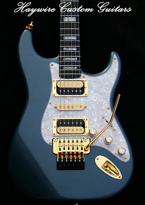 image result for a Haywire Custom Shop Violator guitar with 2 dimarzio humbuckers and a reverse wound reverse polarity single coil pickup