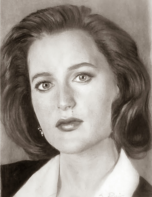 Gillian-Anderson-graphite-pencil-drawing
