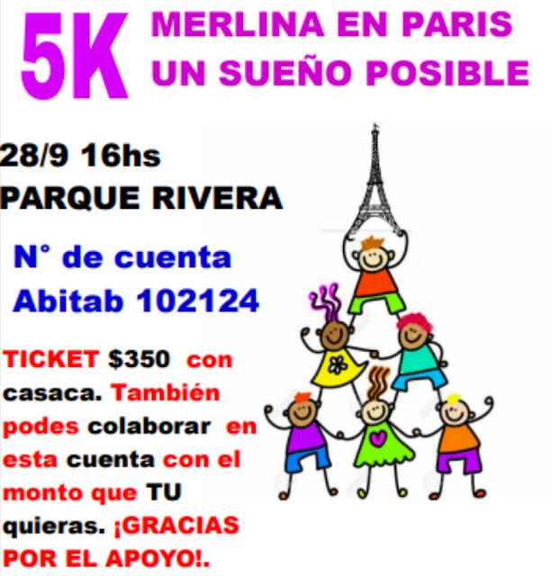 5k benéficos Merlina en París - Un sueño posible (parque Rivera - Montevideo, 28/sep/2019)
