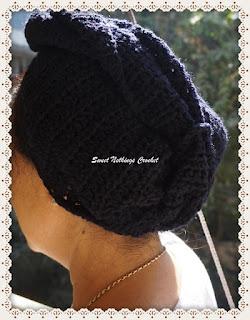 crochet turban, cap, headwear