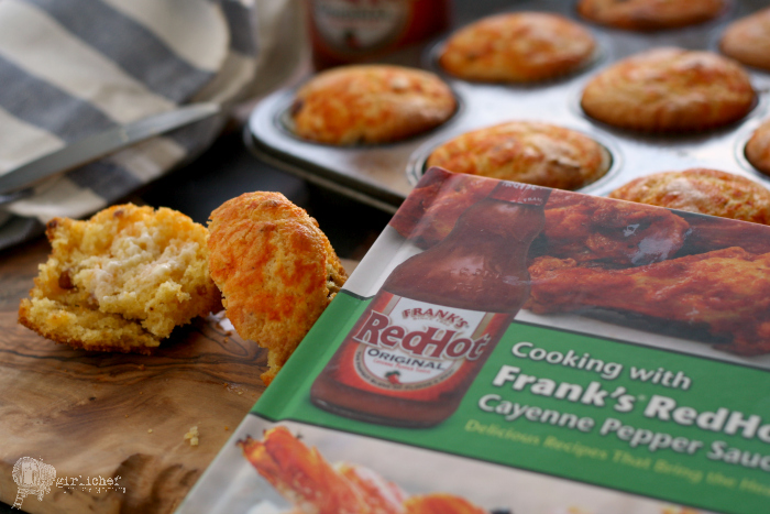 Bacon Cornbread Muffins + Cooking with Frank's RedHot cookbook review