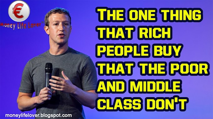 The one thing that rich people buy that the poor and middle class don't