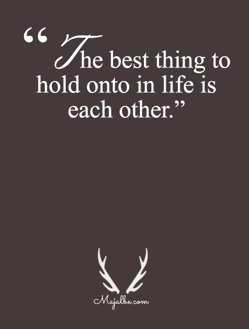 Each Other To Hold