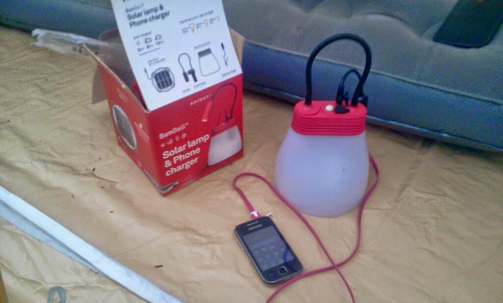 Sun Bell solar light and charger from The Solar Light Co