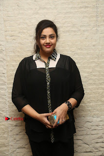 Tamil Actress Meena Latest Stills in Black Dress at TSR TV9 Awards Press Meet  0014.JPG