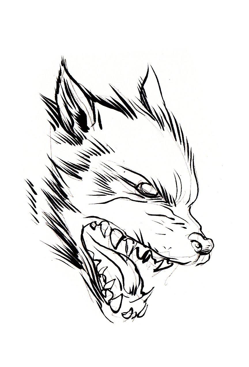 pretty good blog: Warm up Sketch : Wolf