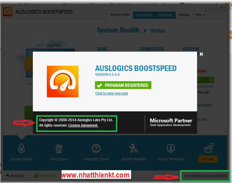Cập nhật Auslogics BoostSpeed 2014 ver 6.5.6.0 full