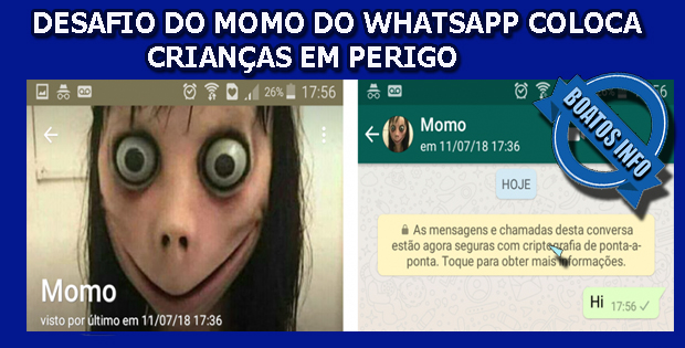 Desafio do Momo coloca crianças em perigo no Whatsapp