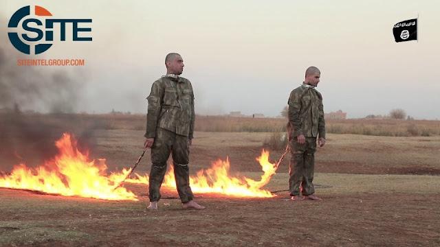 داعش يحرق جنود اتراك