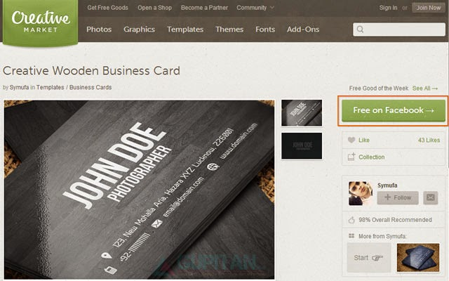 Gratis Creative Wooden Business Card Seharga $ 4