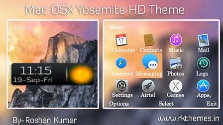 MAC OS X Yosemite Live HD Theme For Nokia c3-00,x2-01