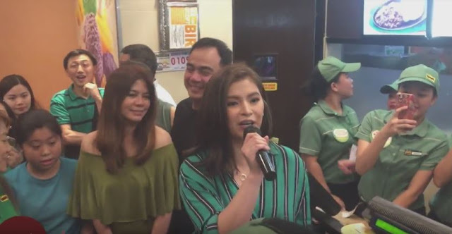 Angel Locsin Celebrated The National Halo-Halo Day At Mang Inasal