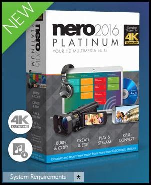 nero 2016 platinum download + serial