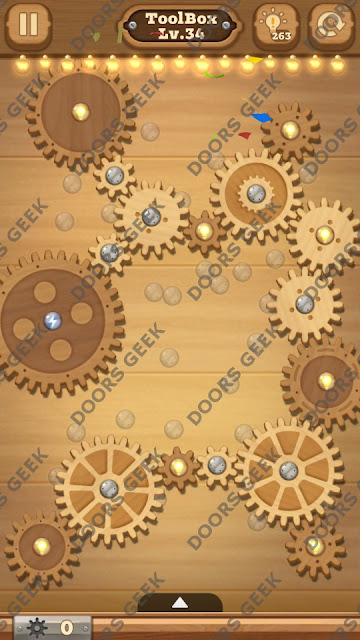 Fix it: Gear Puzzle [ToolBox] Level 34 Solution, Cheats, Walkthrough for Android, iPhone, iPad and iPod
