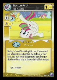 My Little Pony Blossomforth, Too Flexible Canterlot Nights CCG Card