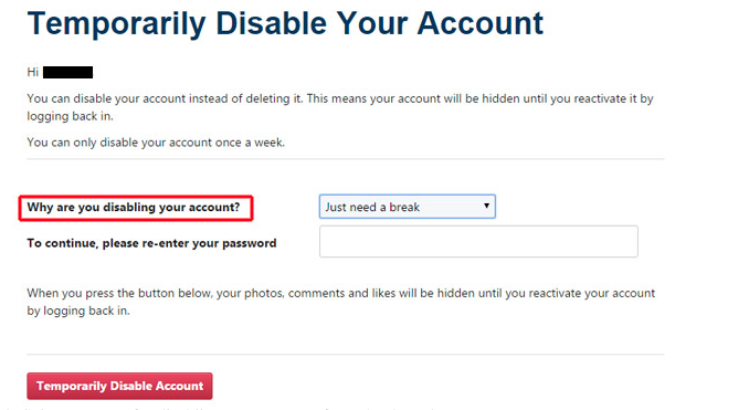 How to deactivate your Instagram account