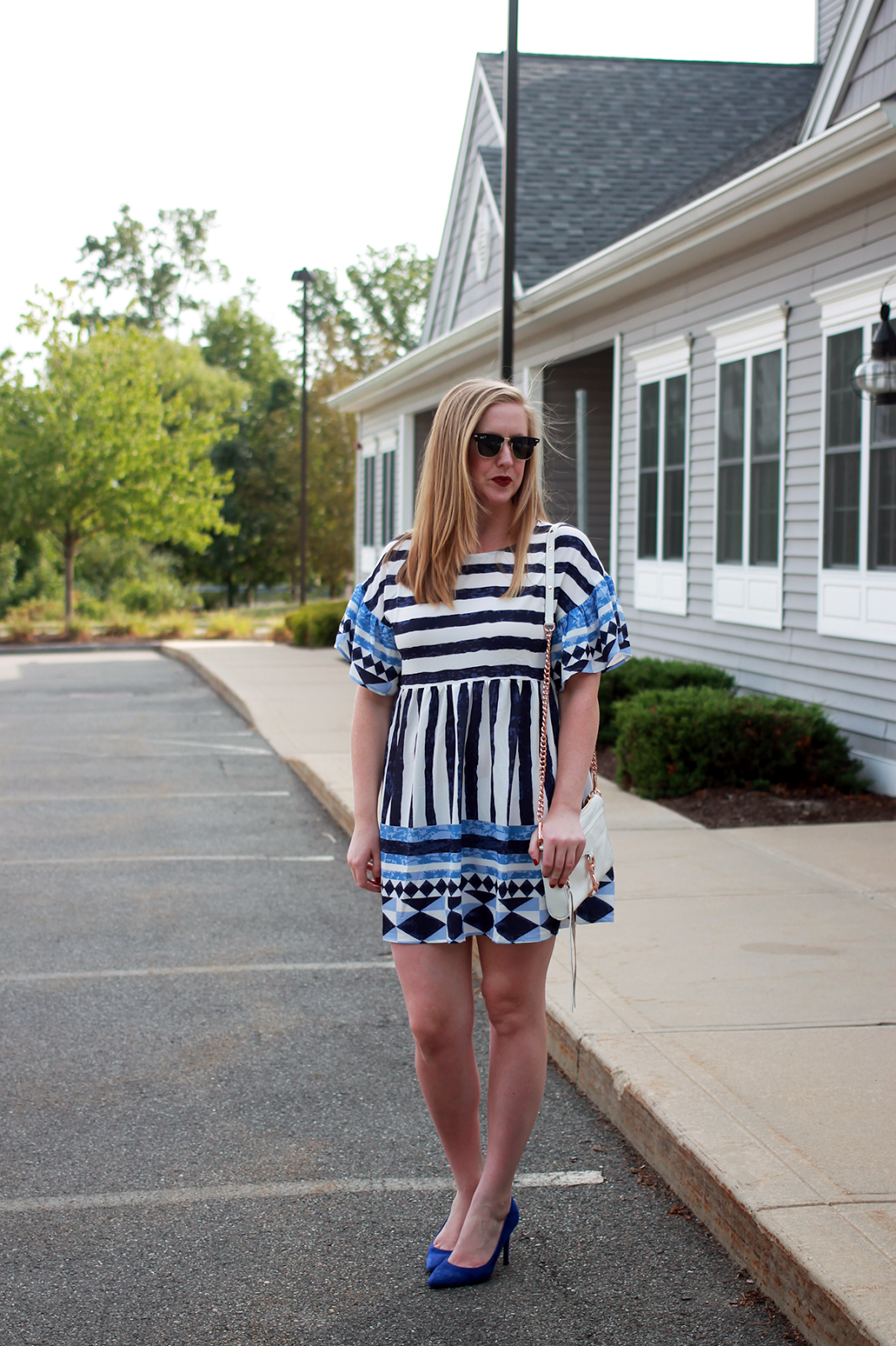 boston fashion influencer; boston style instagram; boston style blogger; shein boston collaboration; shein collaboration instagram; print ruffle shift dress;