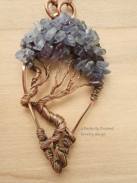 Perfectly twisted handmade wire wrapped beaded and gemstone perfectly twisted handmade wire wrapped beaded and gemstone jewelry new beaded wire wrapped tree of life pendants necklaces by perfectly twisted jewelry mozeypictures Choice Image