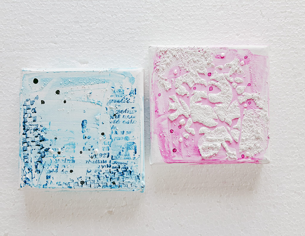 Mini Mixed Media Leinwände mit Art Anthology und Carabelle Studio | Janna Werner