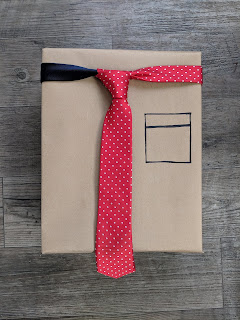 minimalist gift with a tie
