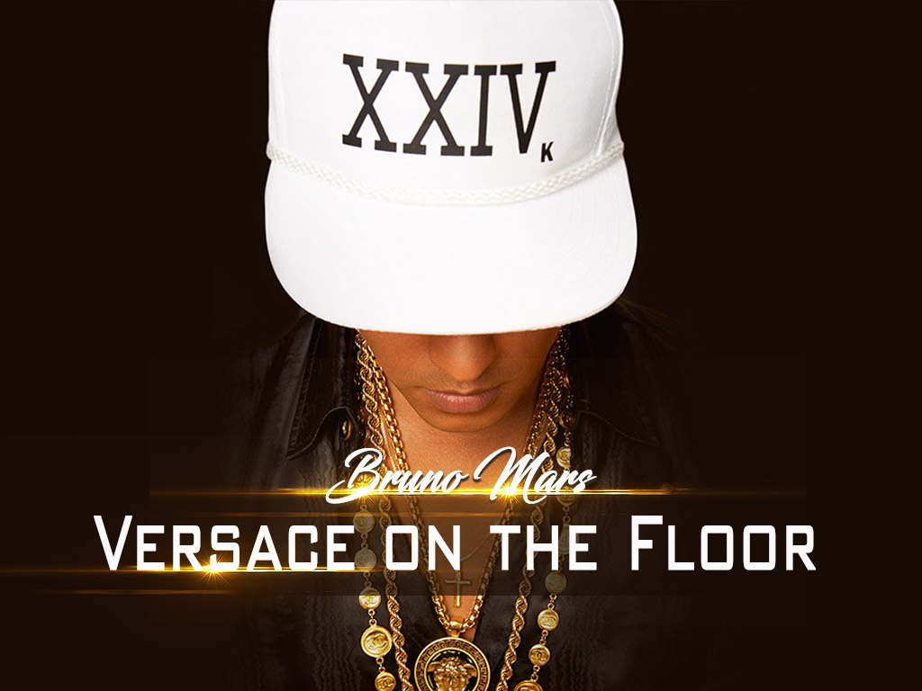 Versace On The Floor  Bruno Mars  Music Letter Notation with Lyrics for Flute Violin