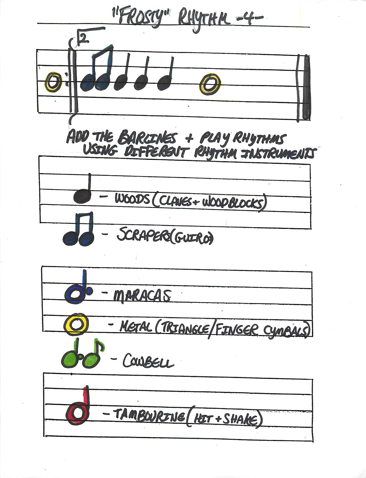 Miss Jacobson S Music Frosty Music Worksheets