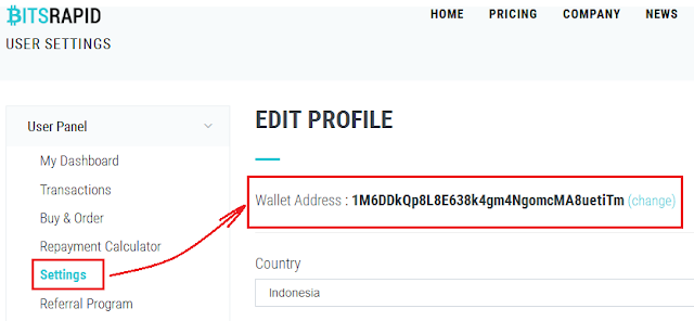 Setting Wallet Bitcoin Anda