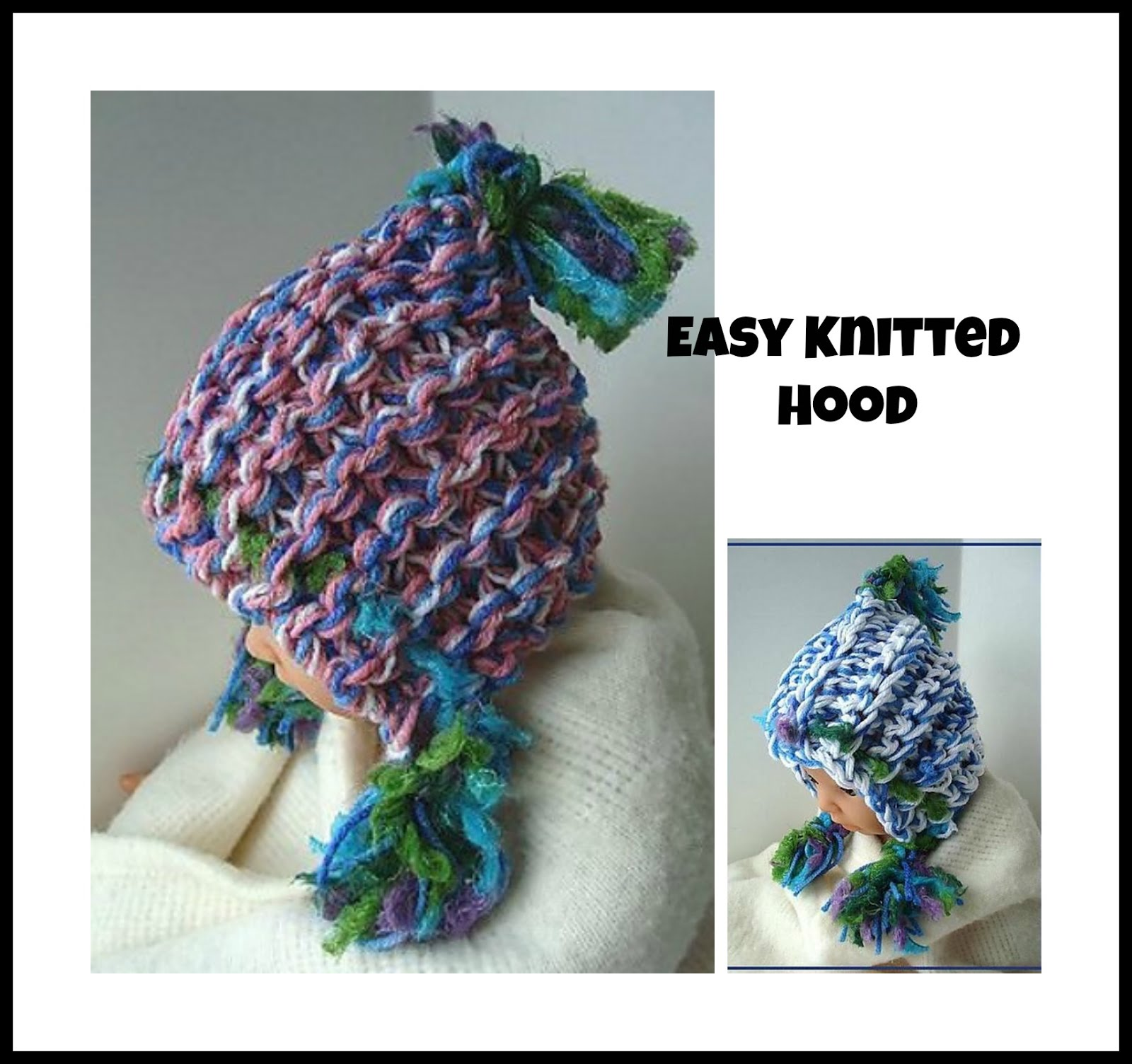 Hectanooga Patterns Free Knitting Pattern Easy Knitted Hood Hat