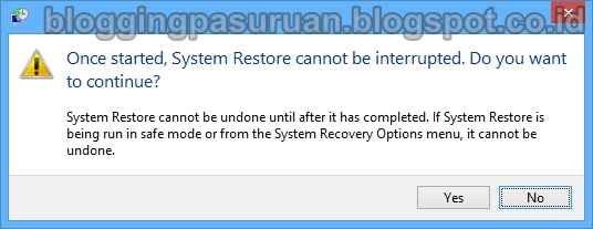 Cara System Restore Windows 8 / 8.1 dari Safe Mode