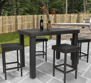 Ideal  Piece Wicker High Dining Furniture Set Now icon