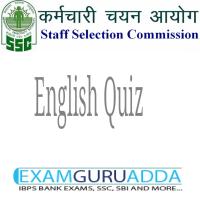 SSC Quiz-English for CGL 2017