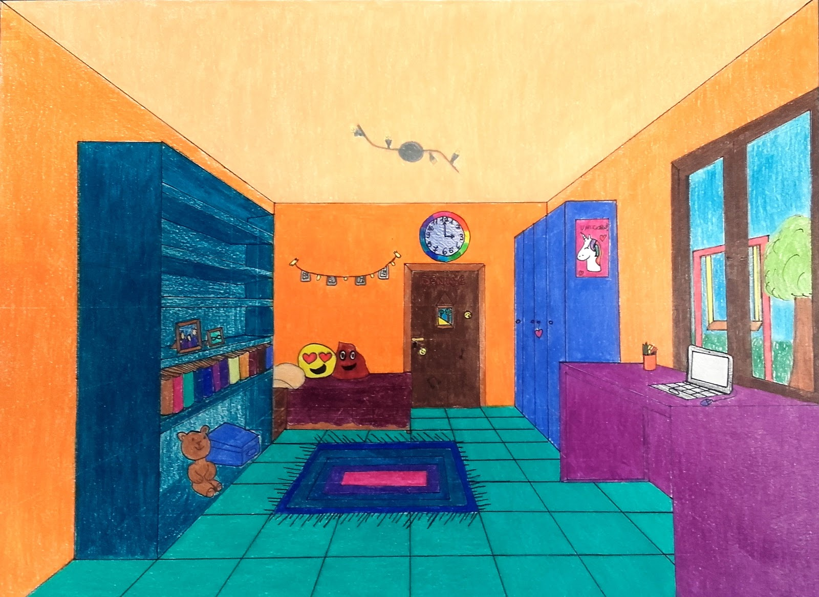 Sessantaseinblog stanze in prospettiva centrale for Disegni di case in prospettiva