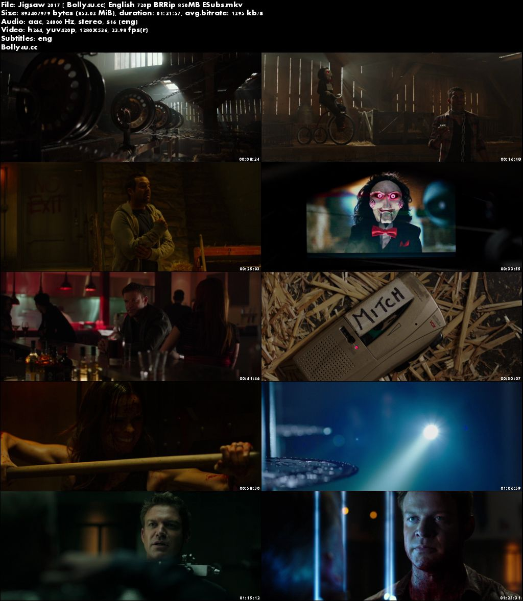 Jigsaw 2017 BluRay 850MB English 720p ESubs Download