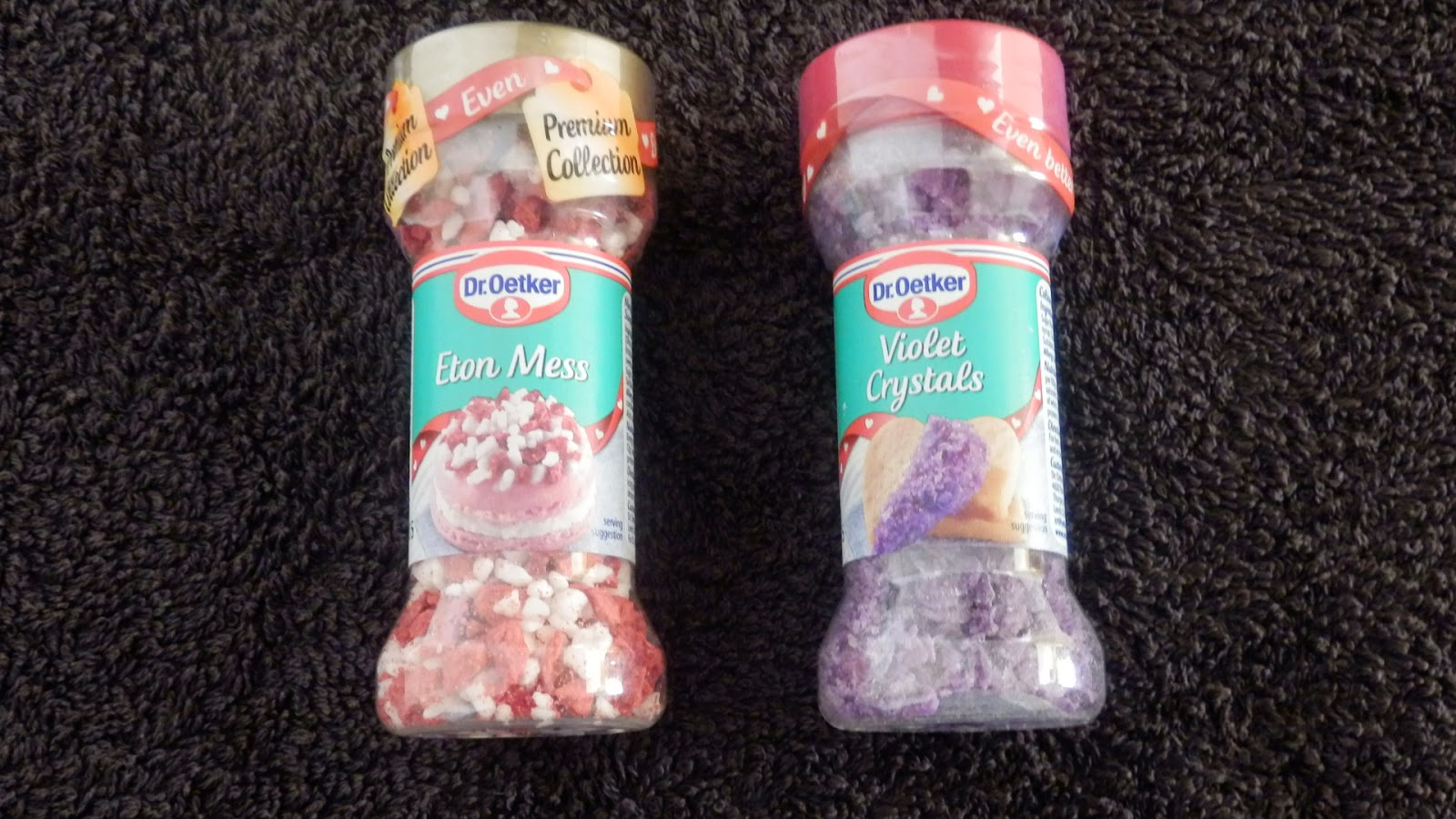 2 Dr Oetkers sprinkles - Eton Mess and Violet Crystals