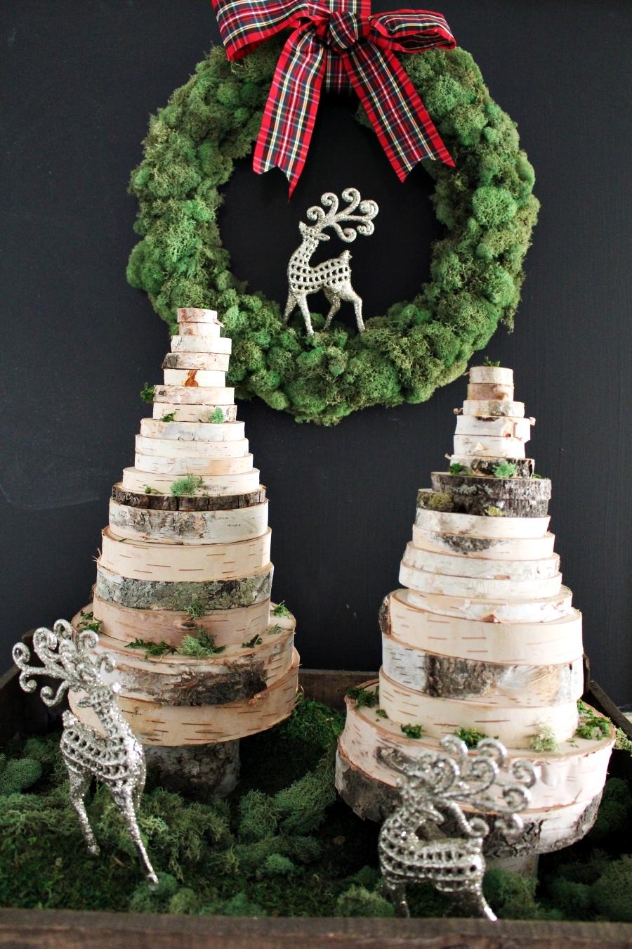Świąteczne DIY - choinka z drewnianych krążków, zrób to sam, Święta Bożego Narodzenia, dekoracje, decorations, Christmas