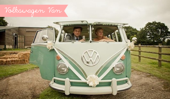 wedding getaway vehicle, wedding volkswagen van