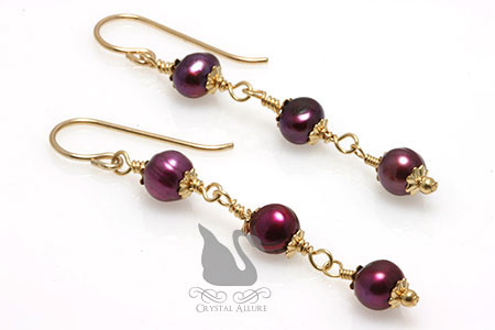 For Eternity Freshwater Pearl Beaded Earrings (E100-D2)