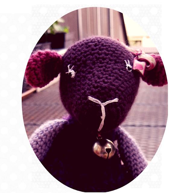 owca domowa, fioletowa