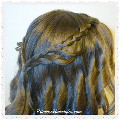Cute feather loop braid hairstyle tutorial.