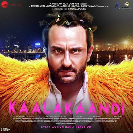 Poster Of Bollywood Movie Kaalakaandi 2018 300MB Pdvd Full Hindi Movie