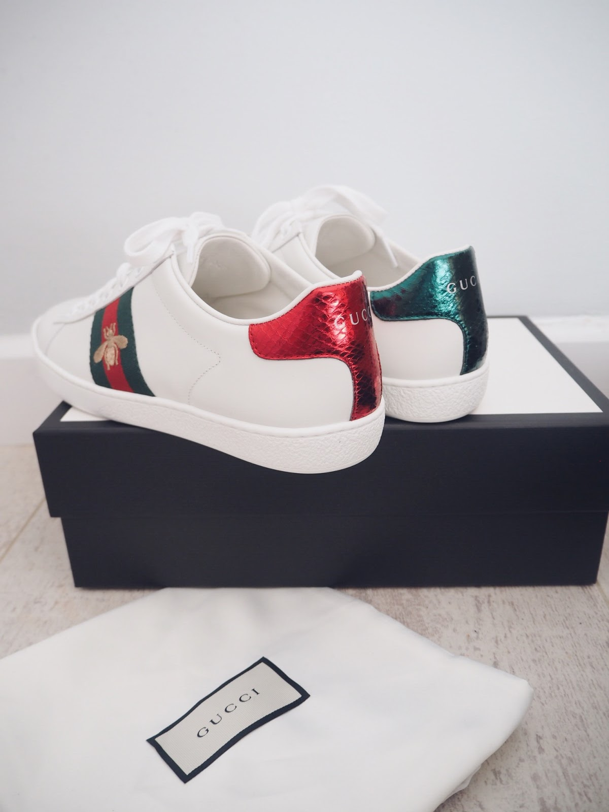 f55b1f6f13d GUCCI ACE EMBROIDERED SNEAKERS- FIRST IMPRESSIONS