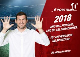 Iker Casillas imagen del decimo aniversario sportium y mundial 2018