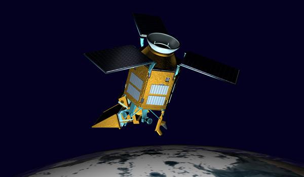 Imagem do satélite Sentinela 5P em órbita