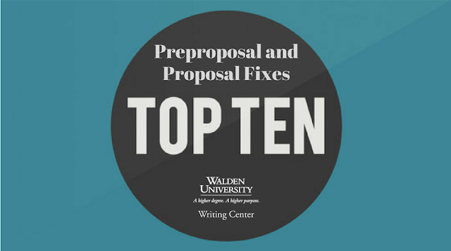 Top 10 Preproposal and Proposal Fixes