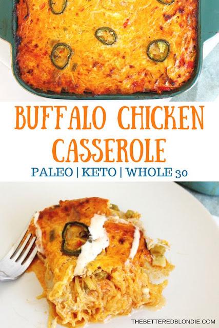 Buffalo Chicken Casserole - Paleo/Whole 30