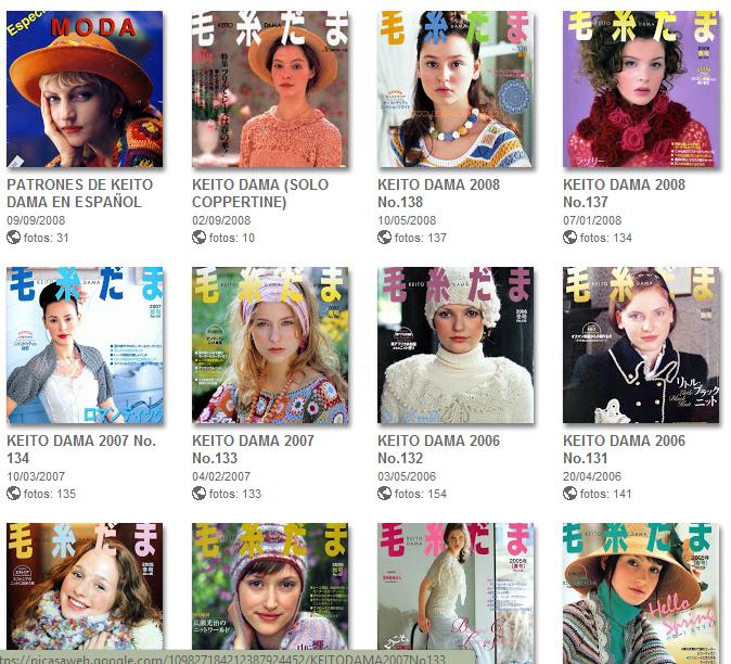 31 Revistas Tejer de Picasa